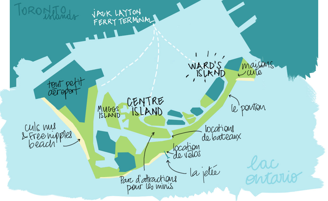 TORONTO ISLANDS ANDYCURLY MAP