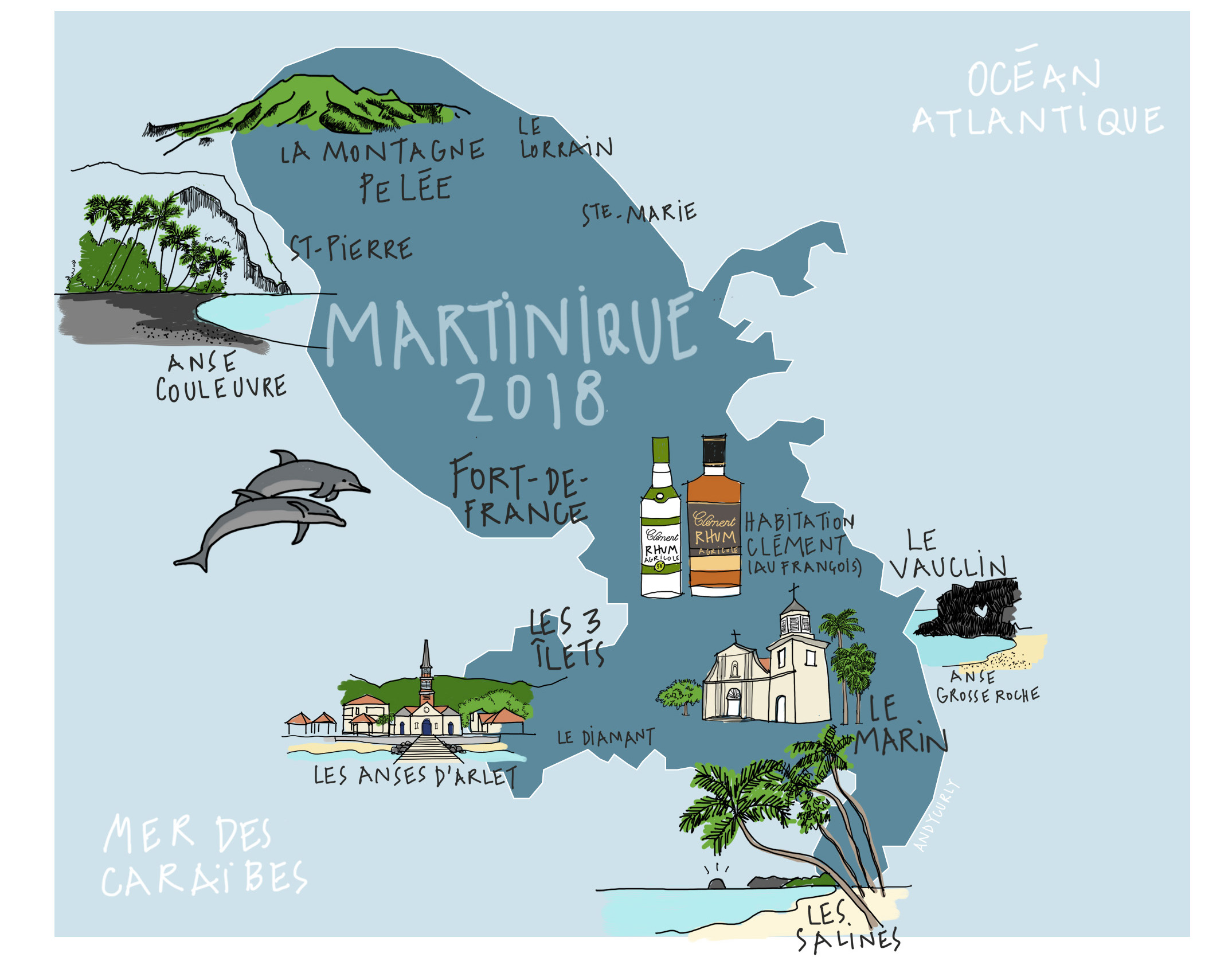carte mawtinique